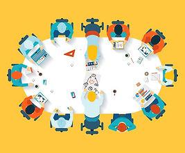 teamwork-business-brainstorming-top-view