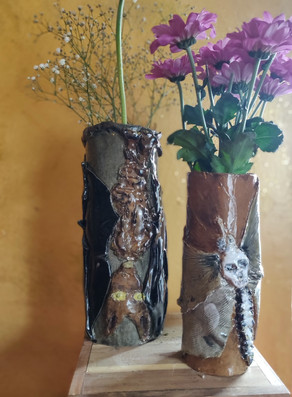 Nocturnal series, Bat and Moth vase (bat