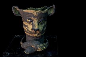Feline Pantasies, ceramic planter