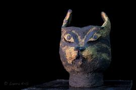 Feline Fantasies, ceramic planter,