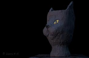 Feline Fantasies, ceramic planter
