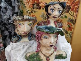 Flower vases, ceramics, 2019