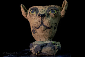 Feline Fantasiens, ceramic planter