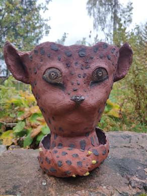 Cat Gang, stoneware planter, 2020