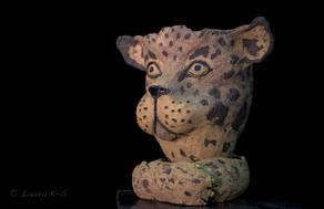 Feline Fantasies, ceramic planter, 300 e