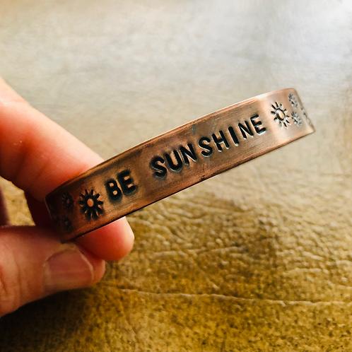 Be Sunshine Copper Cuff