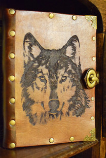 Laser Cut Wolf Journal