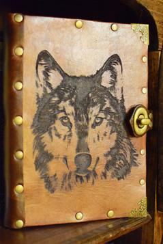 Laser Cut Wolf Journal