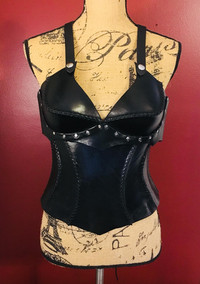 C Cup Black Top and Corset