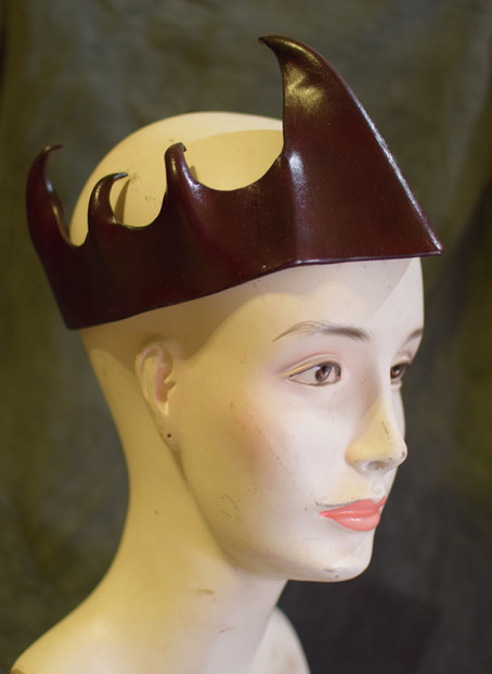 Brown Water-Molded Crown