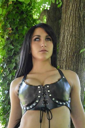 Leather Bra