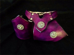 Purple V-Cuff and Necklace Set