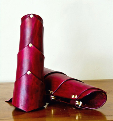 Red Bracers-three tiered
