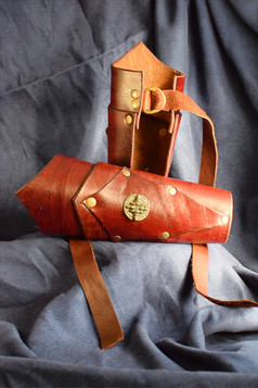 Red Two-Tier Bracers