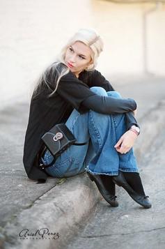 Belt with Bag on Garter