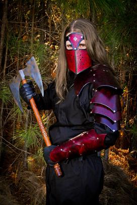 Red Armor- mask, shoulder armor, bracers
