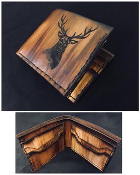 Laser Engraved Deer Wallet