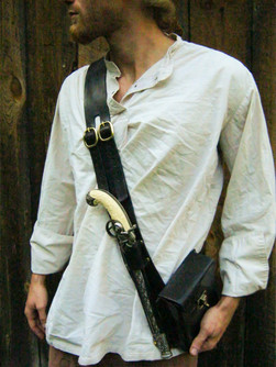 Single Pistol Baldric w Hip Bag