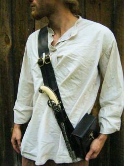 Single Pistol Baldric w Hip Bag
