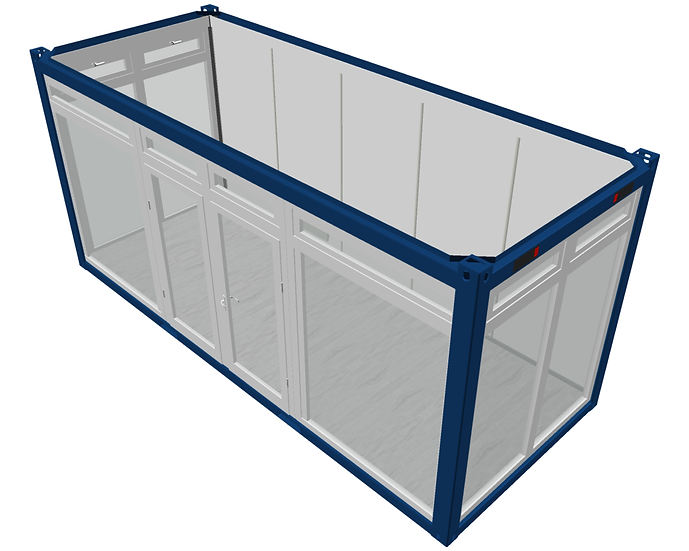 Office Module with Glass Wall (20')
