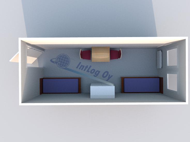 Office / Accommodation Module 1 (20')