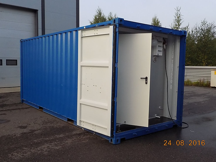 Modified Sea Freight Module Sauna