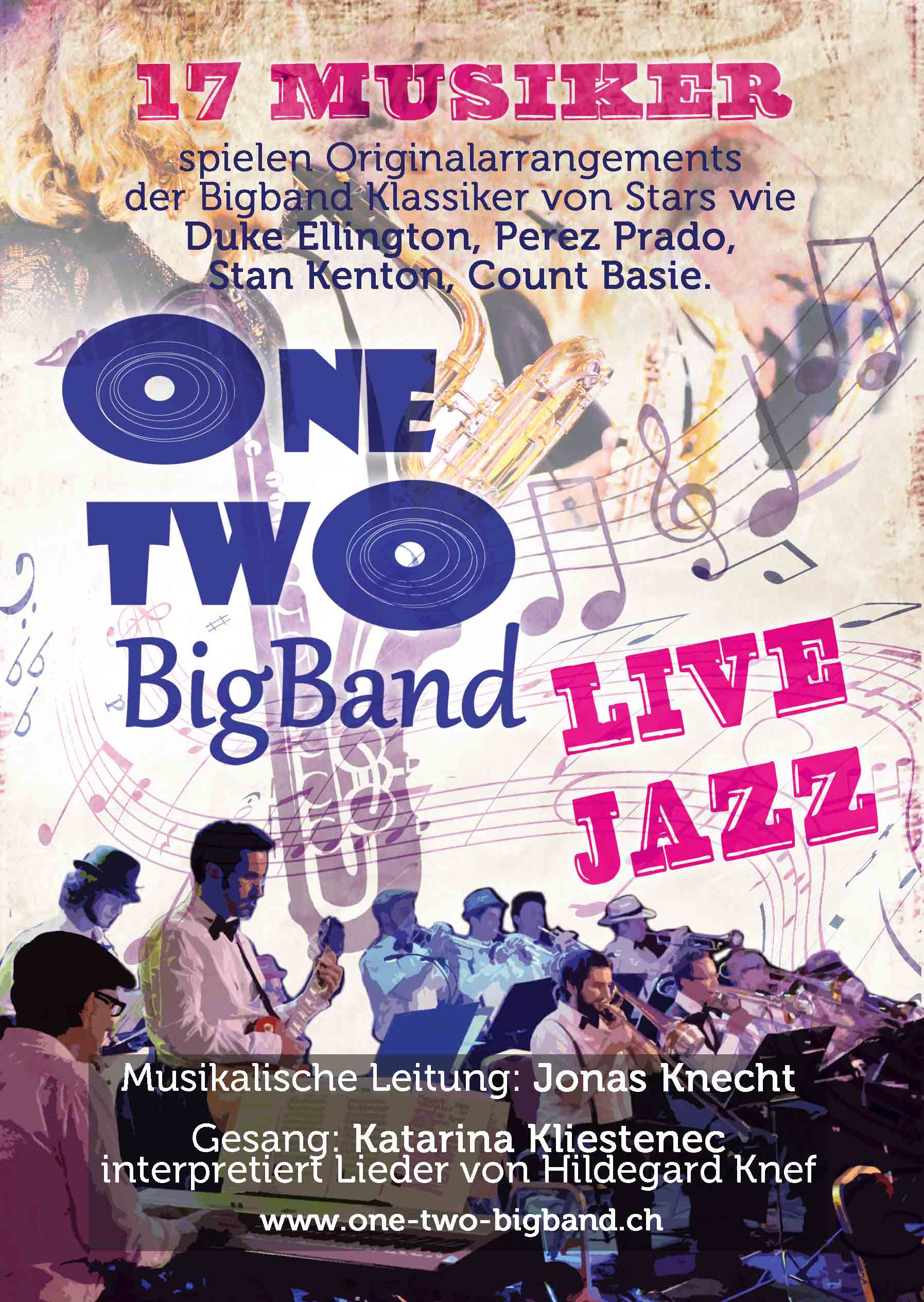 Flyer One Two Bigband 2015 vorne