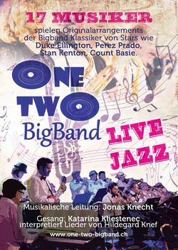 Flyer One Two Bigband 2015 vorne