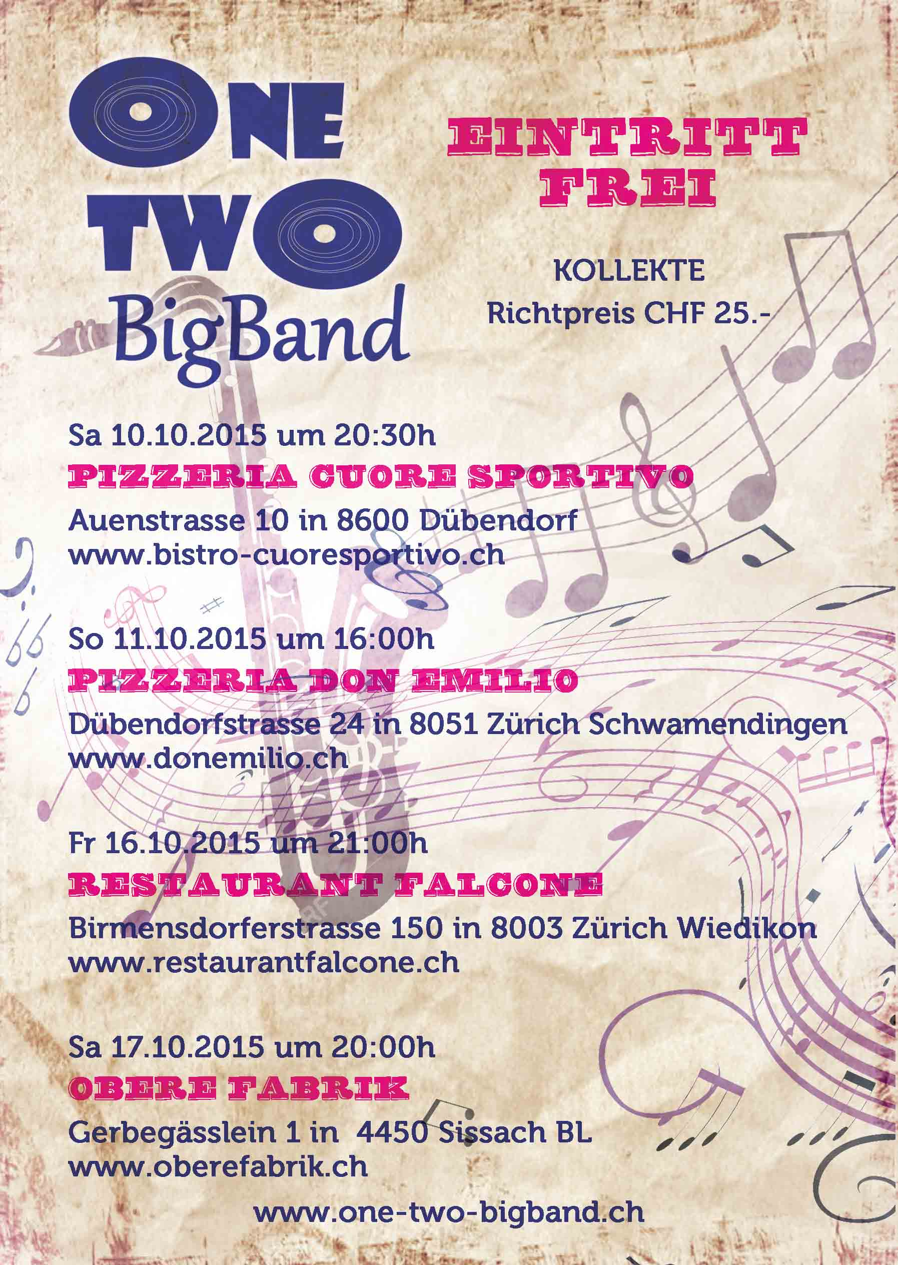 Flyer One Two Bigband 2015 hinten