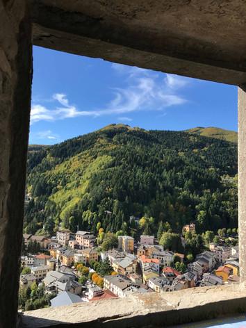 La vista dalla finestra del Castello