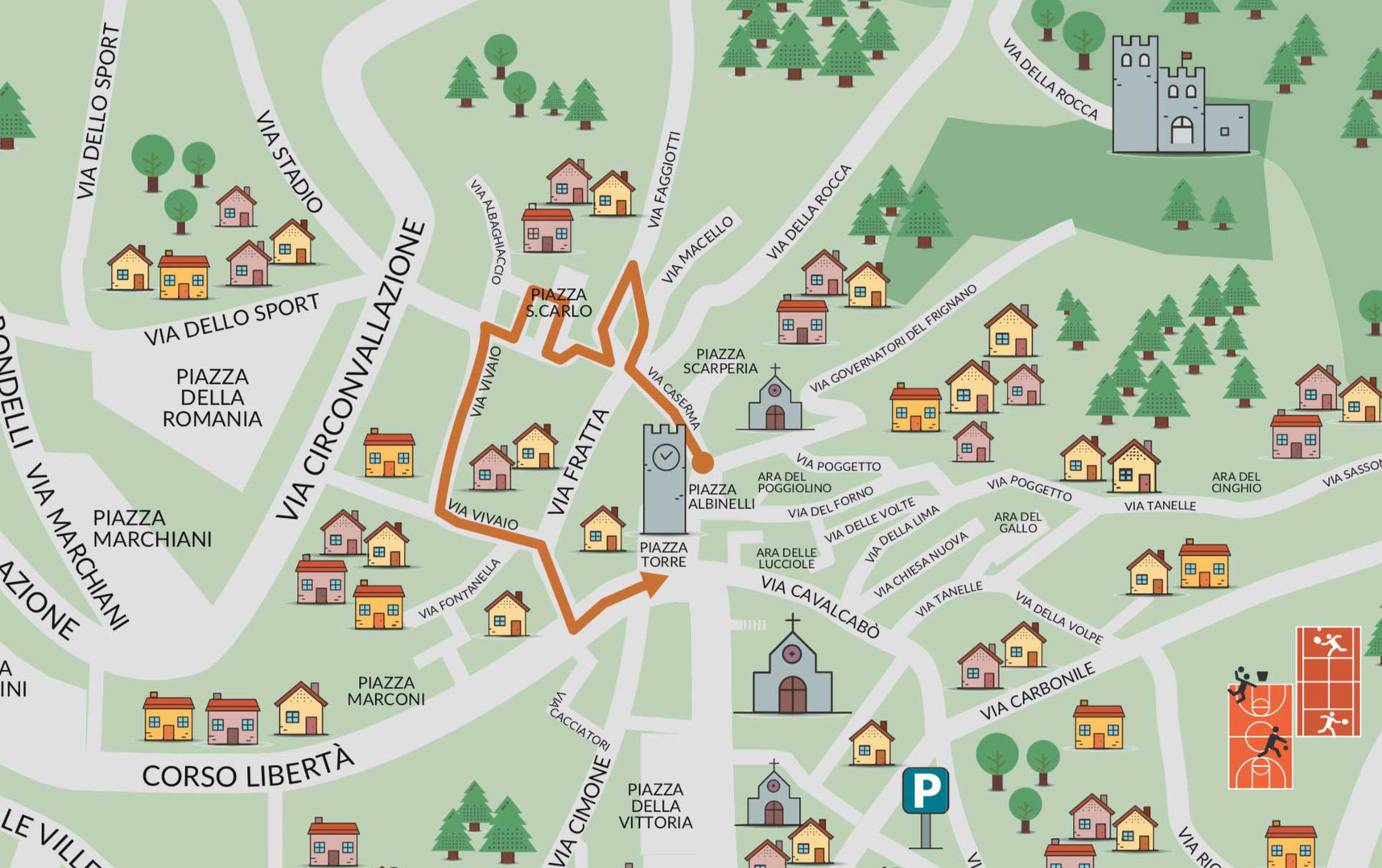 Albaghiccia Mappa