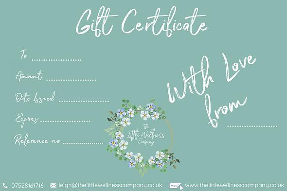 Peach Floral Massage Gift Certificate.pn