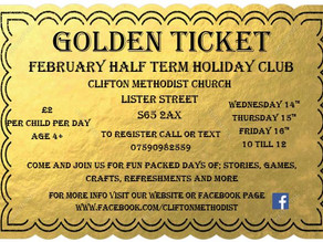 Clifton Holiday Club - Starts Wed 14th February