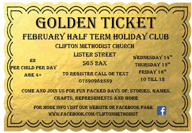 Clifton Methodist Church February Half Term Holiday Club