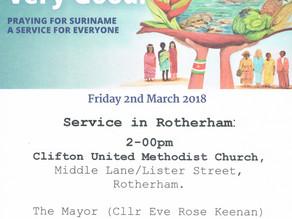 Women's World Day of Prayer Service for Suriname  - Clifton Methodist Church
