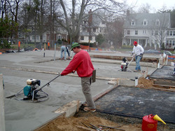 Working concrete to level