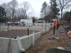 Foundation in place