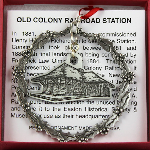 Old Colony Railroad Station Christmas Ornament