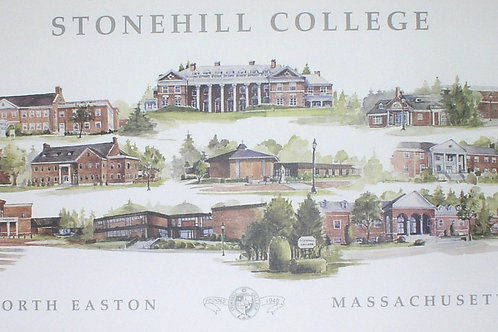 Mary Bodio print of Stonehill College