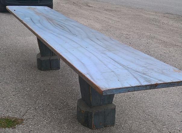 blåmalt antikk langbord