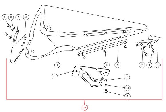 Pointe de diviseur latéral gauche complète CAPELLO M3-40038