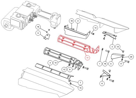 Rouleau épanouilleur gauche complet CAPELLO M3-80005