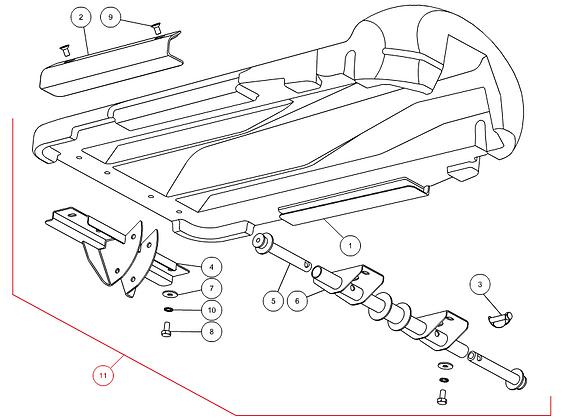 Tôle de diviseur centrale complète CAPELLO M3-40015