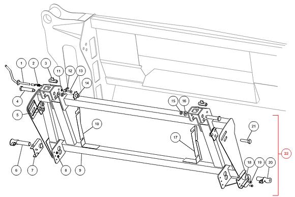 Cadre complet adaptation CLAAS CAPELLO M3-50009