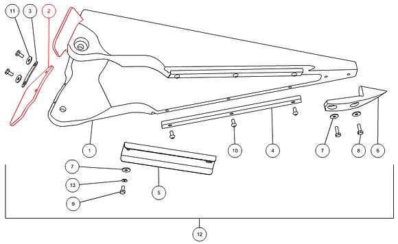 Bavette caoutchouc CAPELLO M1-40012