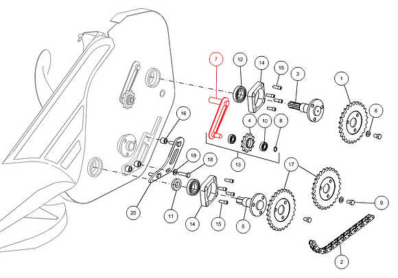 Tendeur chaîne gauche CAPELLO M2-30016