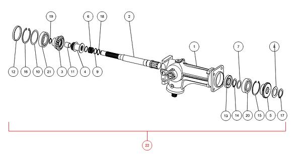 Boîtier de transmission broyeur complet CAPELLO M1-80180