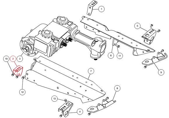 Support gauche CAPELLO M1-40080