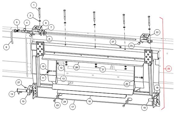 Cadre complet CAPELLO pour CLAAS Lexion 400 07.0041.01