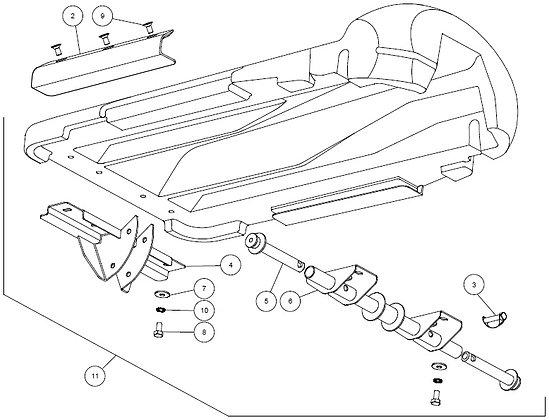 Capot intérieur complète CAPELLO M3-40048